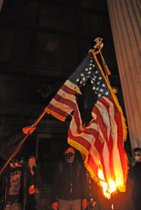 Occup - Burning US flag